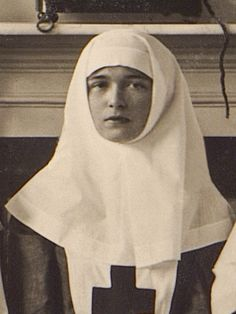 Grand Duchess Olga Nikolaevna in her Red Cross nurse uniform during WWI Olga Romanov, Romanov Sisters, Familia Romanov, Grand Duchess Olga, House Of Romanov, Alexandra Feodorovna, Tsar Nicholas Ii, Victoria, Empire