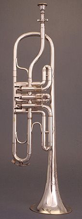 NMM 6779.  Trumpet in B-flat and A by Denis Antoine Courtois, Paris, ca. 1875