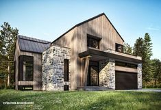 Countryside house with modern Farmhouse exterior design bringing up the traditional style in new classy look Image 17 - SHAIROOM. Farmhouse Architecture, Modern Farmhouse Exterior, Farmhouse Design, Rustic Farmhouse, Casa Loft, Farmhouse Remodel, Modern Barn, Modern Contemporary, Dream House Exterior