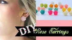DIY Rose Earrings + Giveaway!!!