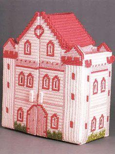 Plastic Canvas Jewelry Box castle & Accessories
