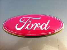 Ford Truck Emblem 9 inch PINK BREAST CANCER Sticks on by saandman, $39.99