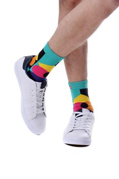 1d70e233b9b9 Mens Geometric Pop. Green Cool Socks For Men, Green Socks, Wrap Heels,