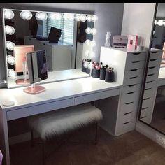 Makeup studio room ideas makeup studio decor ideas beauty room in home decorators collection blinds warranty . Room Ideas Bedroom, Decor Room, Bedroom Decor, Home Decor, Bedroom Modern, Ikea Bedroom, Makeup Studio Decor, Vanity Room, Vanity Set