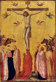 The Crucifixion, about 1315–20, Giotto di Bondone. Tempera and gold leaf on panel, 17 11/16 x 12 13/16 in. (45 x 32.5 cm). Musée des Beaux-Arts, Strasbourg, Inv. N. 167. Photo M. Bertola
