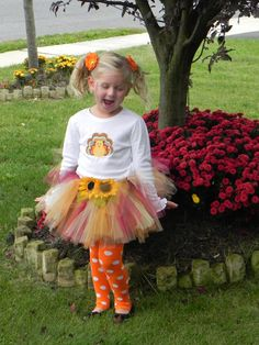 Fall/Autumn Tutu-Thanksgiving Tutu Skirt-Scarecrow Tutu Costume on Etsy, $20.00