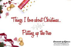 Things I love about Christmas.... Putting up the tree. All of them.  #OrnamentsByRebecca #Christmas #ChristmasTrees