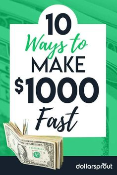 A 2017 GOBankingRates survey found that over half of Americans have less than $1,000 in savings. If you're in a bind for cash or trying to save money, here are 10  simple ways you can make $1,000 in a week or less. |Save Money| Money| 10 Ways to make $1000 fast| Fast Money|