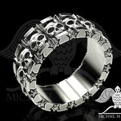 #skull #skullpandents #skullbiker #ring @gift  #bikerpendant #jewelry  #bikercustomjewelry #bikerjewelry #bikerchick #bikersilverring #bikers #goldrings #silverrings  Free Shipping  @Michaelmjewelry.com