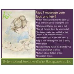 Dayna Barley-Cohrs has illustrated these beautiful cards available from www.FirstTouchShop.org.au. Each set contains 8 different cards, each with a different massage sequence for babies to help remember the massages. For IAIM Certified Infant Massage Instructors.