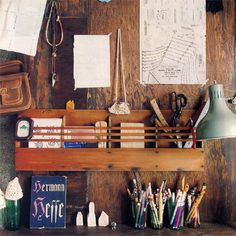 so charmingly rustic//I love this even more because there's a Hermann Hesse novel in the foreground