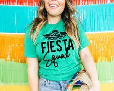 Fiesta Shirts Fiesta Bachelorette Cinco de Mayo Shirts   Etsy Cute Sports Bra, Mexican Shirts, Bridal Party Shirts, Beach Shirts, Quality T Shirts, Shirt Style, Colorful Shirts, Trending Outfits, Tees