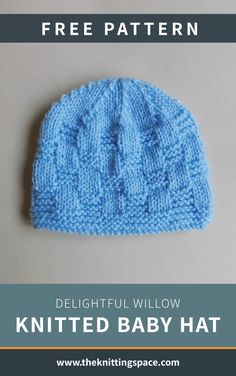 Craft this simple knitted baby hat that will make for a thoughtful handmade baby shower present. This easy knitting project is ideal for beginner knitters and to those looking for a quick knitting project to work on. Baby Knitting Patterns Free Newborn, Baby Hat Patterns, Baby Hats Knitting, Knitted Baby, Knitting Yarn, Free Knitting, Baby Knits, Quick Knitting Projects, Mandala Tattoo Design