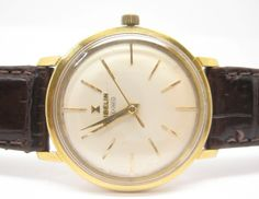 Pre-owned Watches | Quality branded Watches | Complete with Documents and Certificates : Gubelin IPSO-Matic 18K. Gold Watch Automatic 1950's