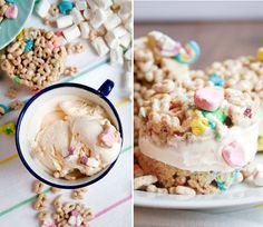 Recipe: Lucky Charms Ice Cream Sandwiches — Dessert Recipes from The Kitchn Yummy Treats, Delicious Desserts, Sweet Treats, Dessert Recipes, Yummy Food, Pudding Recipes, Lucky Charms Cereal, Chocolate Pie Recipes, Sandwiches