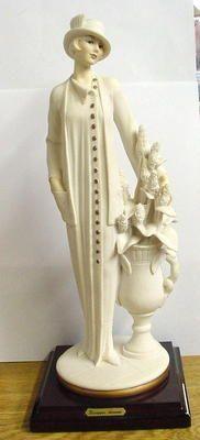 Giuseppe Armani Figurine Deco 20's Woman w Flowers 1995.