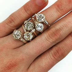 Rose gold engagement rings by Single Stone