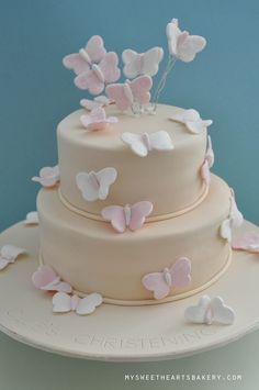 Butterfly christening cake | Lilia Yap | Flickr