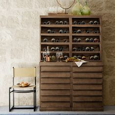 Navarro Wine Storage  144 bottles , (this is 4 pieces put together, 2 tops and 2 bases) Dining Room Hutch, Dining Rooms, Home Wine Cellars, Rustic Wine Racks, Wine Tasting Room, Wine Display, Wine Cabinets, Metal Chairs, Wine Storage