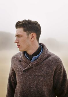 shawl neck pullover - toast - men's sweater