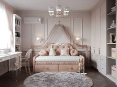 VK is the largest European social network with more than 100 million active users. Home Room Design, Kids Room Design, Girl Bedroom Designs, Girls Bedroom, Cute Bedroom Decor, Pastel Room, Daughters Room, Little Girl Rooms, Decoration