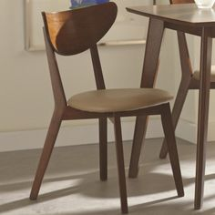 Coaster Kersey Dining Side Chairs with Curved Backs - Coaster Fine Furniture