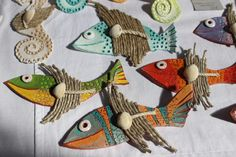 Decorazioni per la casa #faidate #fiera #bologna #animaletti #pesci #fish #decorativeobject