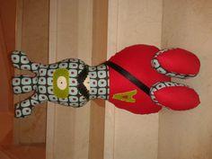 Capitán Álvaro, softie, muñeco tela