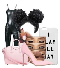 """""""I Slay All Day"""" by kidwitcurls ❤ liked on Polyvore featuring Yves Saint Laurent, Givenchy and Gianvito Rossi"""