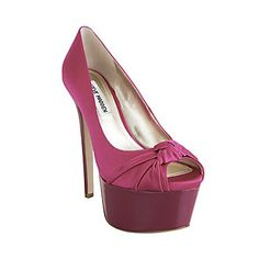 Steve Madden. I want these but in the black satin