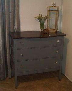 Bedroom Furniture Redo hand painted chest of drawers volkswagen bus | chalk paint