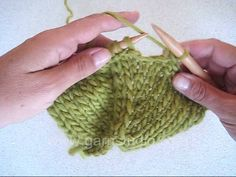 DROPS Knitting Tutorial: How to bind off a pointed edge