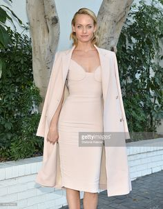 Model Amber Valletta at the CFDA/Vogue Fashion Fund Show and Tea presented by kate spade new york at Chateau Marmont on October 26, 2016 in Los Angeles, California.