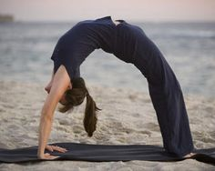 Be flexible and strong enough to do a backbend.