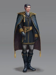 m Bard Royal Courier General urban Valarium City Cape hilvl wonmi choi Fantasy Male, Fantasy Armor, Medieval Fantasy, Fantasy Portraits, Character Portraits, Fantasy Inspiration, Character Inspiration, Character Concept, Character Art