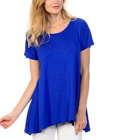 Look at this #zulilyfind! Royal Blue Sidetail Tunic #zulilyfinds