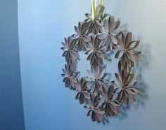 How-To: Toilet Paper Roll Wreath