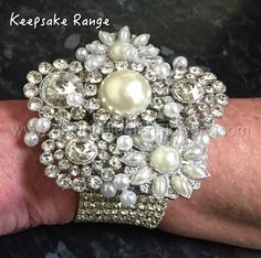 This beautiful handcrafted wrist corsage is great for any occassion the  Couture Diamante Wrist Corsage is created with Diamante Brooches and designed on a Diamante encrusted bracelet.