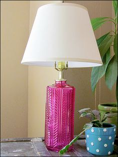 Up dating a thrift store lamp