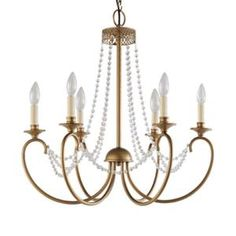 Not every chandelier has to be a priceless treasure. This one is from Home Depot and is large airy and elegant. Hampton Bay Estelle Gold Hanging - The Home Depot Hanging Chandelier, Gold Chandelier, Hanging Lights, Chandeliers, Home Depot Chandelier, Room Lights, Ceiling Lights, Ceiling Fan, Clear Glass