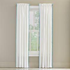 $19 Pompom Rod Pocket Curtain Panel | Joss & Main