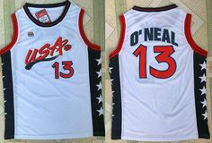 Nike Team USA #13 Shaquille O'Neal White 1996 Dream Team Stitched NBA Jersey
