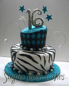 Sweet 16 birthday cake :D