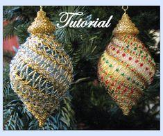 spiral beaded ornament pattern | Spiral Ribbon Sparkler Beaded Ornament by beadedpatterns on Etsy