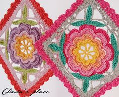 Dada's place: Crochet potholders