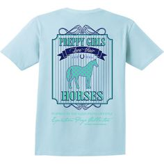 Preppy Girls Love Their Horses Short Sleeve EP-111 | @giftryapp