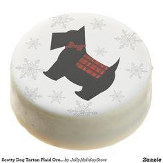 Scotty Dog Tartan Plaid Oreo Holiday Cookies - 12
