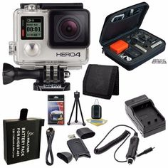 GoPro HERO4 Silver + AHDBT-401 Replacement Lithium Ion Battery + External Rapid Charger + Micro HDMI Cable + Custom GoPro Case for GoPro HERO4 and GoPro Accessories + SDHC Card USB Reader + Memory Card Wallet + Deluxe Starter Kit Brands Special Bundle  http://www.lookatcamera.com/gopro-hero4-silver-ahdbt-401-replacement-lithium-ion-battery-external-rapid-charger-micro-hdmi-cable-custom-gopro-case-for-gopro-hero4-and-gopro-accessories-sdhc-card-usb-reader-memory-car/