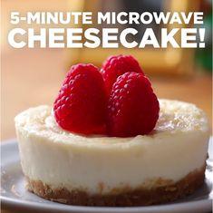 Microwave Cheesecake by Tasty cake cheesecake cake cupcakes cake decoration cake fancy dessert cake Microwave Cheesecake Recipe, Mug Cheesecake, Cheesecake Vanille, Personal Cheesecake Recipe, Classic Cheesecake, Homemade Cheesecake, Easy Cheesecake Recipes, Mug Cake Micro Onde, Dessert Micro Onde