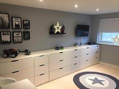 Ikea Kids, Contemporary Interior Design, Kid Spaces, Boy Room, Kids Bedroom, Diy Home Decor, Family Room, Decoration, Tv Storage